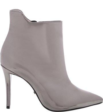 <![Cdata[Ankle Boot Salto Alto Fino Prata Velho | Arezzo]]>