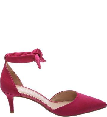 <![Cdata[Scarpin Nobuck Lace Up Salto Kitten Lady Pink | Arezzo]]>