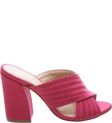 <![Cdata[Mule Cetim Salto Tiras Cruzadas Lady Pink   Arezzo]]>
