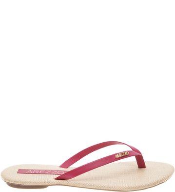 <![Cdata[Chinelo Couro Tropical Pink Flamingo   Arezzo]]>